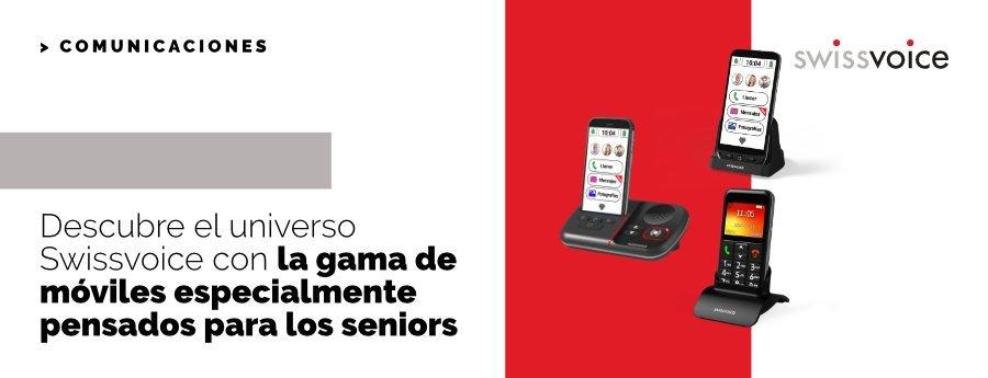Descubre el universo Swissvoice con la gama de móviles especialmente pensados para los seniors
