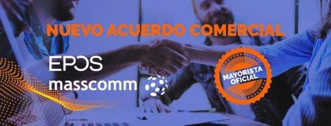 Nuevo acuerdo comercial de EPOS y Masscomm para la comercialización de productos de audio