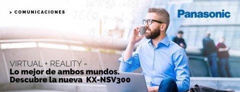 VIRTUAL + REALITY = Lo mejor de ambos mundos. Descubre la nueva KX-NSV300