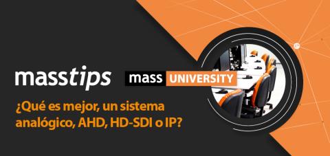sistema analógico, AHD, HD-SDI o IP