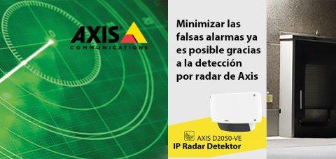 Detección por radar, seguridad, AXIS